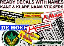(Bedrijfs-) NAAM Stickers Pré-Cut Decals