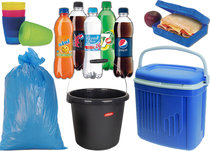 Koelbox, flessen, emmers, vuil, etc.