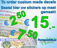 Stickers via e-mail aangevraagd