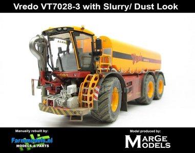 VRE-7330-SL+FG DUSTLOOK Vredo Trac VT 7028-3 + GRATIS ZUIGSLANG 1:32 Marge Models (MM1802VREDO-SL)