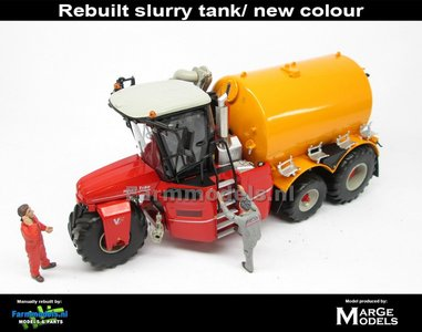 Rebuilt: VERVAET Hydro Trike XL + NAADLOZE VMR Veenhuis GELE TANK ZONDER LOGO 1:32 Die Cast model MM1820-R
