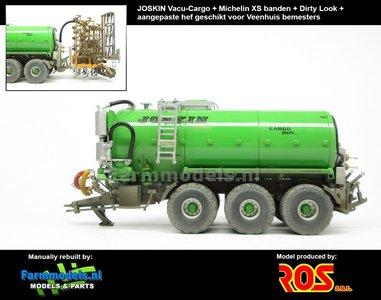 Rebuilt & Dirty Joskin Vacu Cargo 24000 GREEN + 4-PUNT HEF + MICHELIN XS + STOF- & MESTLOOK 1:32 RS602144-RD