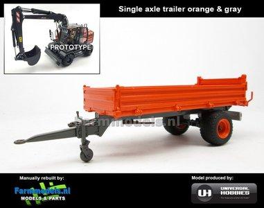Rebuilt: Enkel asser Bakkenwagen oranje en grijs geschikt voor div. mobiele kranen & shovels 1:32 EXAMPLE PICTURE