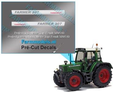 FARMER 307 TURBOMATIK type stickers Pré-Cut Decals 1:32 Farmmodels.nl