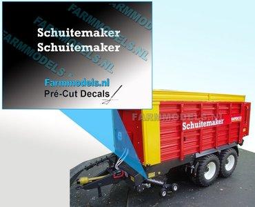 Schuitemaker WIT op transparante folie 2.8 mm hoog Pré-Cut Decals 1:32 Farmmodels.nl