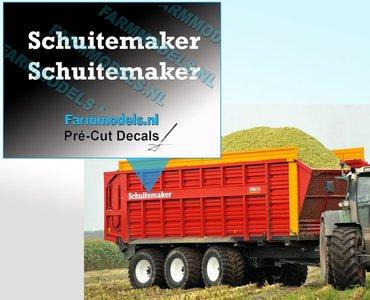 Schuitemaker WIT op transparante folie 7.5 mm hoog Pré-Cut Decals 1:32 Farmmodels.nl
