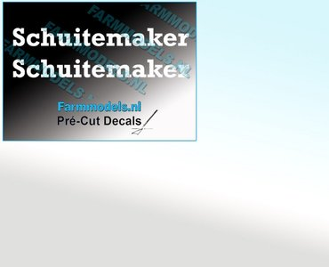 Schuitemaker WIT op transparante folie 10.2 mm hoog Pré-Cut Decals 1:32 Farmmodels.nl