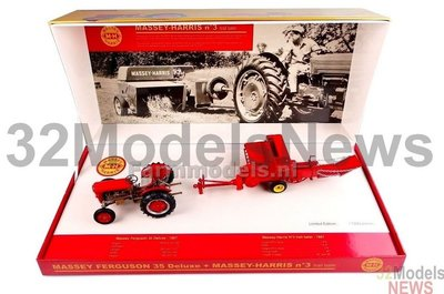 Massey Ferguson 35 Deluxe & Massey Harris MH3 Limited Edition 1:32 Universal Hobbies UH5238   EXPECTED