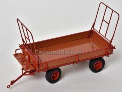 Miedema Landbouwwagen gelakt hout / rood met profiel banden 1:32 MargeModels PLM7602