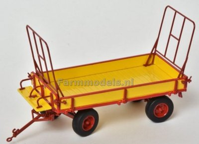 Miedema Landbouwwagen geel / rood met ballon banden 1:32 MargeModels PLM7601
