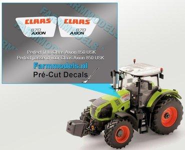 CLAAS AXION 870 type stickers voor CLAAS AXION USK motorkap Pré-Cut Decals 1:32 Farmmodels.nl