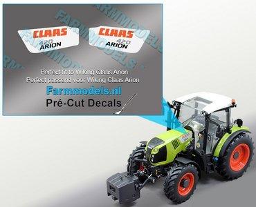 CLAAS ARION 420 type stickers voor CLAAS ARION WIKING motorkap Pré-Cut Decals 1:32 Farmmodels.nl