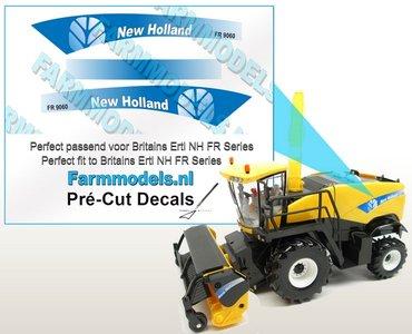 New Holland FR 9060 type stickers voor NH FR 9090 Britains Ertl motorkap Pré-Cut Decals 1:32 Farmmodels.nl