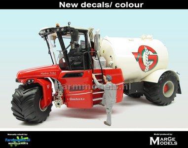 Rebuilt & ND-VERVAET Hydro Trike, CREME/ WITTE RAL 1013 TANK + V. GINNEKEN LOGO 1:32 Marge Models  MM1819-VGINNEKEN-3