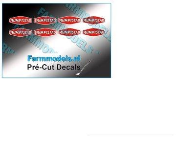 RUMPTSTAD logo stickers 2,7 mm hoog Pré-Cut Decals 1:32 Farmmodels.nl