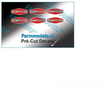 RUMPTSTAD logo stickers 4,4 mm hoog Pré-Cut Decals 1:32 Farmmodels.nl