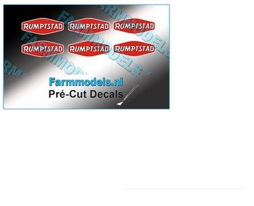 RUMPTSTAD logo stickers 5.6 mm hoog Pré-Cut Decals 1:32 Farmmodels.nl