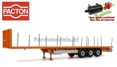 YELLOW PACTON Flatbed Trailer + FREE GIFT  1:32 Marge Models MM1901-04