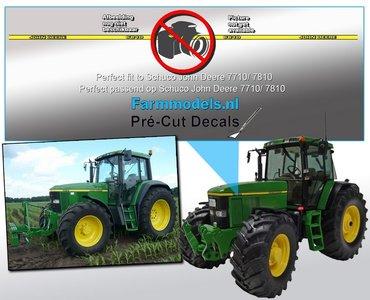 John Deere 6810 type stickers, geschikt voor de John Deere 7710/ 7810 Schuco/ Pré-Cut Decals 1:32 Farmmodels.nl