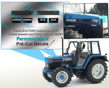 2x KOELROOSTERS - 2x FORD - 2x SLE set geschikt voor FORD IMBER model Pré-Cut Decals 1:32 Farmmodels.nl