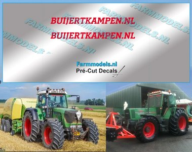 2x BUIJERTKAMPEN.NL ROOD op transparante stickerfolie 30 mm lang Pré-Cut Decals 1:32 Farmmodels.nl
