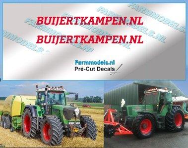 2x BUIJERTKAMPEN.NL ROOD op transparante stickerfolie 40 mm lang Pré-Cut Decals 1:32 Farmmodels.nl