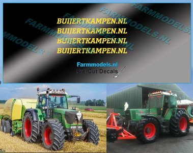 4x BUIJERTKAMPEN.NL GEEL op transparante stickerfolie 25 mm lang Pré-Cut Decals 1:32 Farmmodels.nl