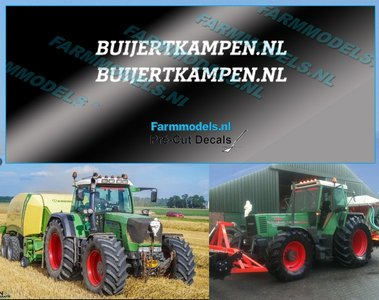 2x BUIJERTKAMPEN.NL WIT op transparante stickerfolie 40 mm lang Pré-Cut Decals 1:32 Farmmodels.nl