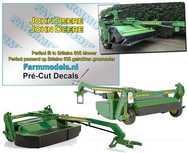 """2x John Deere LOGO GEEL/ ZWART 4mm x 31 mm stickers op transparante stickerfolie """" Pré-Cut Decals 1:32 Farmmodels.nl"""