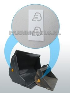 2x BECO Logo t.b.v. bakken / hulpstukken BECO, 1:32