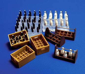 86008 Cola/Melk flessen en kratten 66 delige set