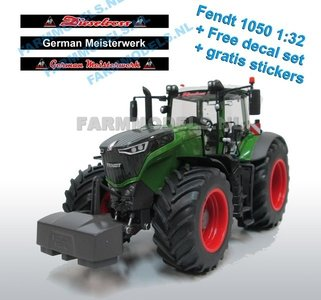 50203 Fendt 1050 Vario Wiking + gratis 3 delige voorruit stickerset Dieselross German Meisterwerk -  1:32