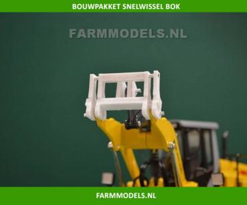 Snelwissel bok, nu in zwart poly geleverd, t.b.v. New Holland ROS / Liebherr Shovel Revell / Volvo Farmmodels BOUWKIT 1:32