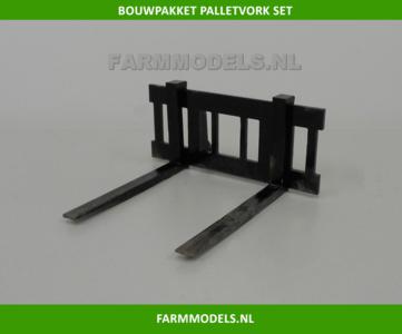 Palletvork set New Holland Shovel ROS BOUWKIT 1:32 voor koppeling snelwissels 55001 t/m 55050 & Volvo VAB-STD