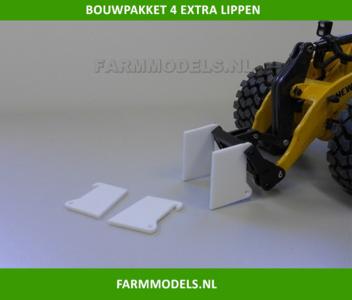 4 extra lippen t.b.v. aanbouw hulpstuk / bak snelwisselset New Holland Shovel ROS, geschikt voor onze snelwisselsets 55001 t/m 55050, 1:32