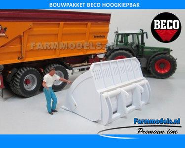 BECO Hoogkiepbak  / Volume bak BOUWKIT geschikt voor koppeling snelwissels 55001 t/m 55050 & Volvo VAB-STD 1:32
