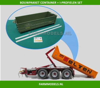 Beco Haakarm Carrier.25106 Container I Profielen Ombouw Set T B V Haakarm Carrier Bouwkits Incl Stickerset 1 32