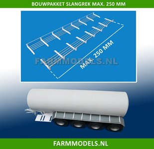 24728 2x Slangrek bouwkit, 250 mm lengte maximaal , geschikt voor 4 asser mesttanks 1:32
