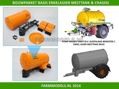 24835 (VMR) enkel asser BASIS mesttank  + chassis, Bouwpakket 1:32
