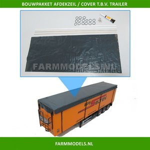 28176 Afdekzeil t.b.v. Walking Floor trailer Bouwpakket 1:32