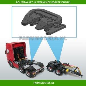 Koppelschotel BOUWKIT Universeel, echt werkend, geschikt voor vrachtwagen Chassis etc. 1:32