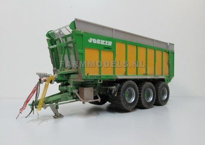 516. Foto's Joskin Drakar op Farmmodels 3 asser chassis + Vredestein Flotation Trac 800/45R30.5 landbouw banden, 1:32