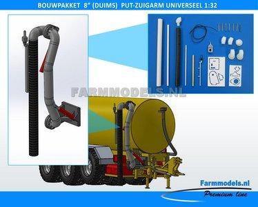 """24471 8"""" (DUIMS) Put Zuigarm Premium Line, Bouwkit beweegbaar, Universeel, 1:32"""