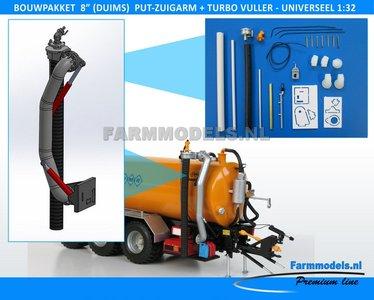 "24472 8"" (DUIMS) Put Zuigarm + Turbovuller Unit + Hydroliekpomp Bouwkit - Premium Line, beweegbaar, Universeel, 1:32"
