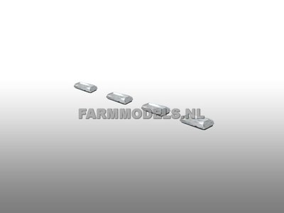 4x Glimmer 2,5x5mm transparant/diamant 1:32