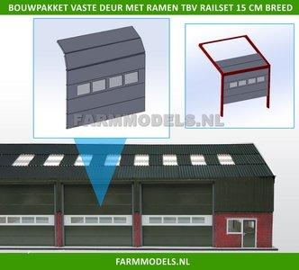 88475 1x Overhead Deur + 4 Ramen = 6 platen + 10 scharnieren                       n + Ramen t.b.v. railset 15 cm breed -BOUWKIT- Kunststof wit t.b.v. (bewaar-) loods / stal / kantoor / huis, 1:32