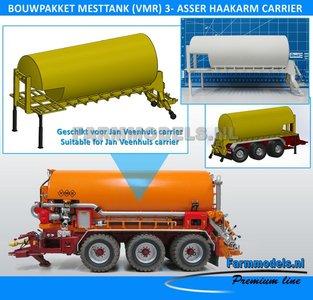 25052 Carrier Mesttank + hefinrichting bouwpakket t.b.v. (Jan Veenhuis) Haakarm carrier, bouwpakket basis 1:32