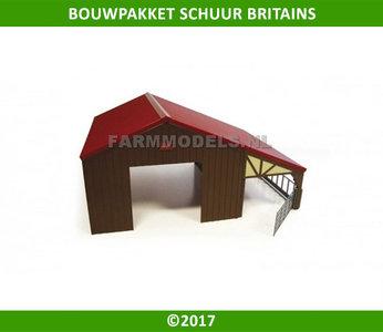 95440 Schuur / Loods / werktuigen berging Rood / Bruin Britains 42954 1:32