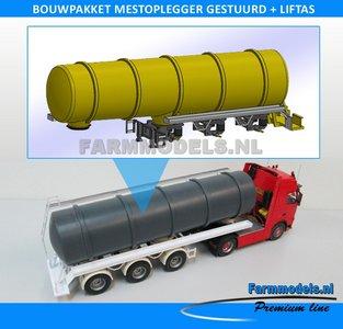 28160 Mestoplegger ZONDER BANDEN (VMA / D-Tec) 3 asser mest trailer (slurrytanker) Bouwpakket Basis 1:32