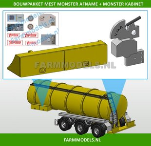 28165 VMA Monsterkabinet + mest-afname Bouwkit + Stickerset, geschikt voor o.a. Mestoplegger, trailer & Mesttank 1:32